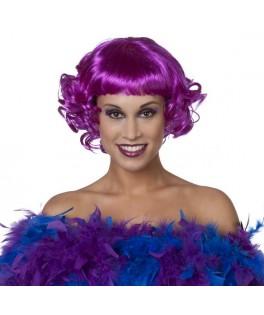 perruque courte violet femme
