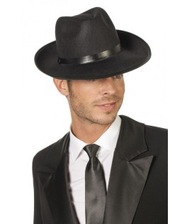 chapeau gangster borsalino noir homme