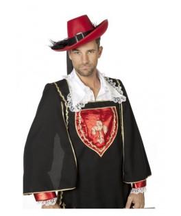 chapeau mousquetaire rouge luxe homme
