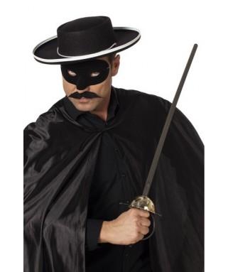 chapeau noir de justicier homme