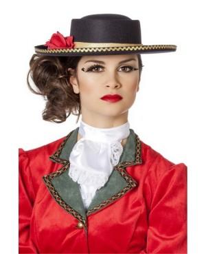 chapeau femme espagnole avec fleur