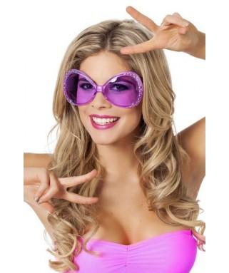 lunettes papillon strass violet