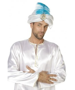 chapeau turban luxe argent homme