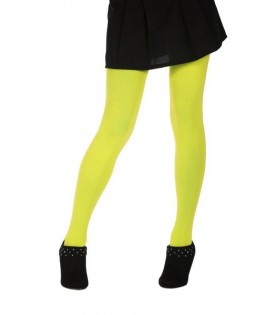 collants opaques 60 deniers microfibre fluo jaune