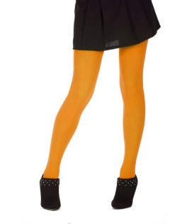 collants opaques 60 deniers microfibre fluo orange