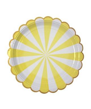 assiettes rondes jaunes meri meri