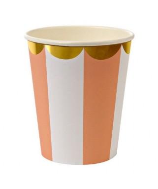 gobelets carton orange meri meri