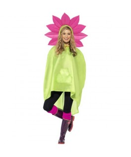poncho party fleur impermeable fluo