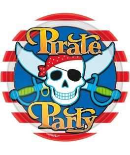 assiettes anniversaire pirate party