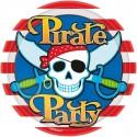 8 Assiettes Pirate Party 23 cm