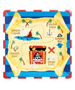 Assiettes pirate treasure