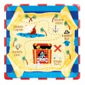 8 Assiettes en carton Pirate Treasure 25 cm