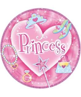 assiettes roses anniversaire princesse