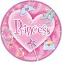 8 Assiettes en carton Princesse - 23 cm