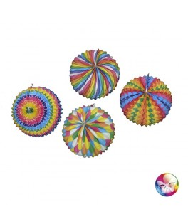 Lampion ballon multicolore 25 cm