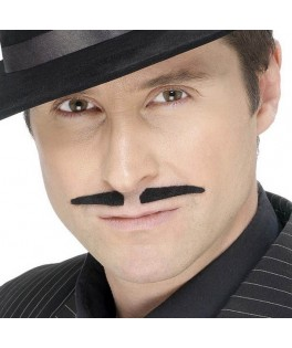 Moustaches Latino noires auto adhésives
