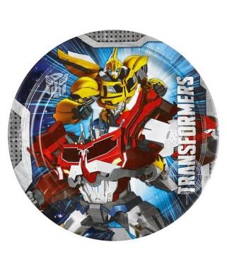 assiettes anniversaire Transformers