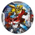 8 Assiettes Transformers 23 cm