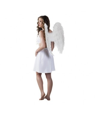 Grandes ailes d'ange plumes blanches