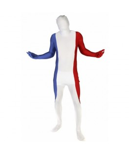 Déguisement Supporter Seconde peau Morphsuit ™ drapeau tricolore France