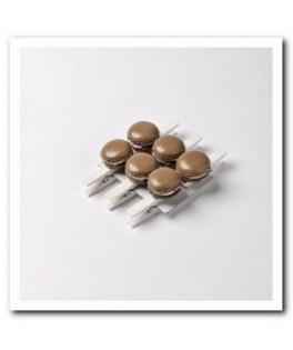 mini pinces macaron chocolat
