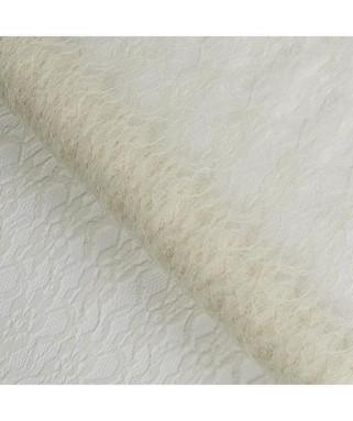 chemin de table dentelle ivoire
