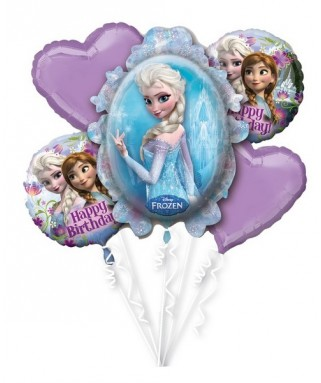 bouquet de ballons anniversaire reine des neiges