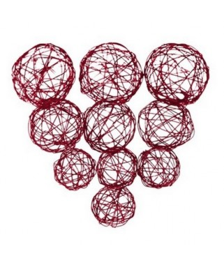 assortiment de boules metal rouge
