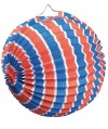 Lampions Supporter ballons tricolores x12