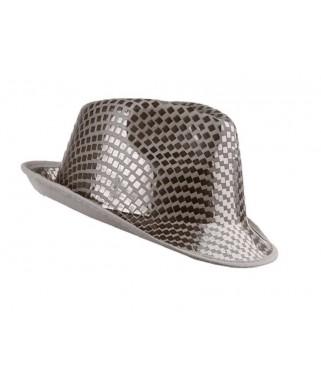 chapeau borsalino sequins argent