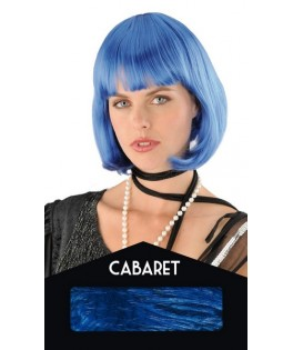 Perruque Cabaret Turquoise - Boite