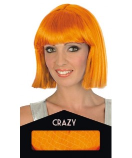 Perruque Crazy Fluo orange - Boite