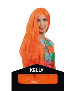 Perruque Kelly Fluo orange
