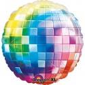 Ballon alu Boule Disco à facettes - 45 cm