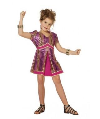 Déguisement Disco violet fille