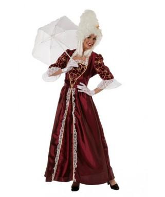 Deguisement robe marquise bordeaux