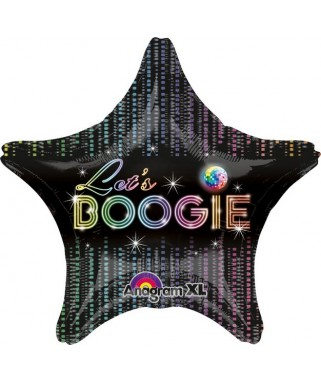 Ballon alu Etoile Disco - 45 cm