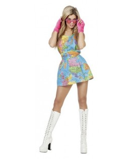 deguisement robe cosmopolite femme