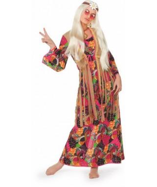 deguisement robe longue hippie femme
