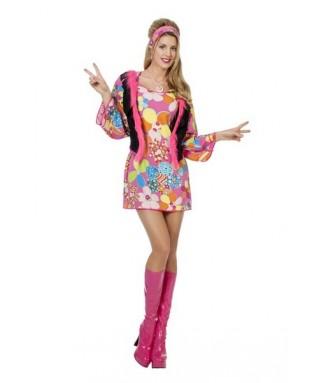deguisement robe hippie woodstock femme
