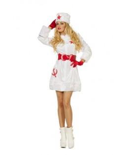 deguisement robe femme russe blanche