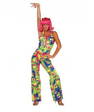 deguisement combinaison fluo disco femme