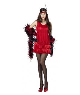 deguisement robe charleston rouge femme