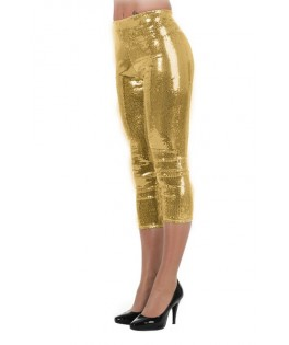 deguisement leggins a paillettes or