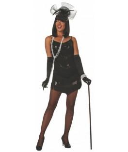 deguisement robe charleston paillettes noir femme
