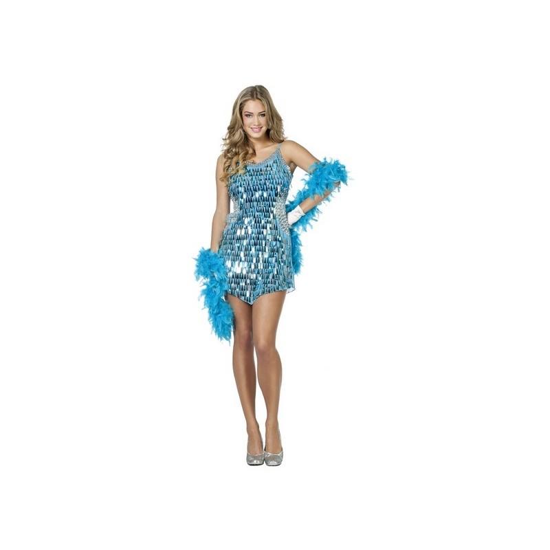 dada1599d9e37 Déguisement robe à paillettes aqua Disco femme - Happy Fiesta Lyon