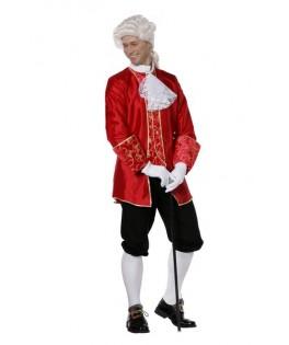 deguisement marquis taffetas rouge homme