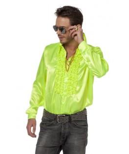 deguisement chemise ruche disco jaune