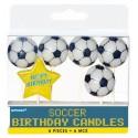 6 Bougies d'anniversaire Football