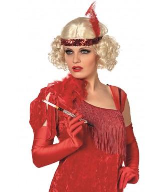 Perruque Charleston blonde avec bandeau femme